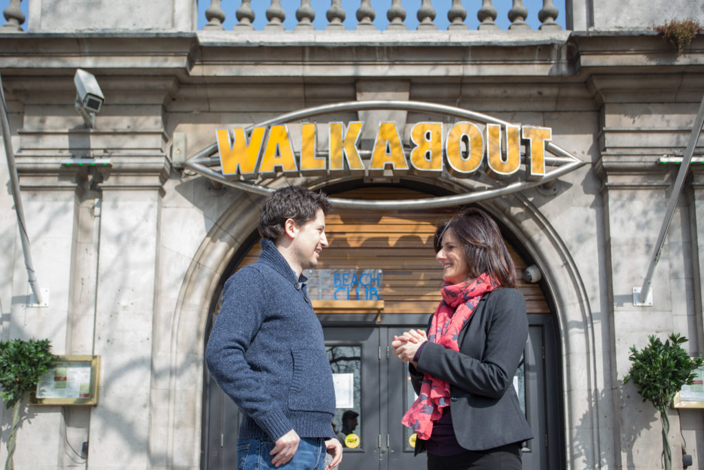 Walkabout Temple with Helen Bailey of Aviatrix and Andy Dean of Walkabout