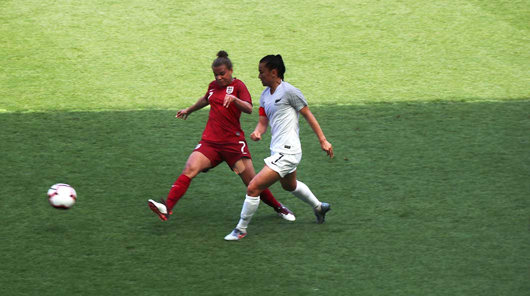 England womens football match against New Zealand